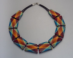 Necklace Diamond Illusion (ST-Art-Clay) Tags: necklace quilt fimo illusion clay polymer