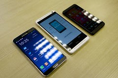 Samsung Galaxy Note 3 vs HTC One Max vs HTC One
