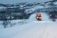 Finnmark (qitsuk) Tags: street winter snow car weather norway norwegen arctic plow scandinavia snowplow finnmark