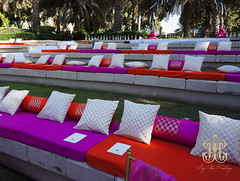 Cushions (bigideaboxuae) Tags: pink wedding white beach comfortable outdoor unique event colourful seating cushions ornage