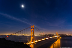 20131212 5DIII San Francisco CA149 (James Scott S) Tags: street city bridge moon reflection water canon scott landscape photography lights james golden bay gate exposure downtown raw nightscape no flash tripod wide twin s l peaks delayed ultra ef 1740 benro sanfranciscocacalifornia lr5 5d3 5diii