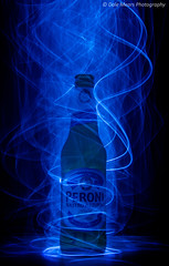 Peroni (Dalemears) Tags: blue cold green beer glass bottle cool wire lowlight nikon peroni smoke el electro lager elwire nastroazzurro luminence d7000 nikond7000
