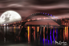 edlr-001 (ExtraEyesPhotoTours) Tags: ocean new bridge moon man beach nature water night dark landscape dock long exposure darkness time wildlife large full backdrop pylons milky pamgoodyer extraeyesphototours