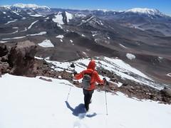 Descending from Veladero (6420m)