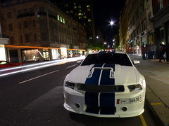 Shelby GT350 (BenGPhotos) Tags: blue white london ford car night muscle stripes fast exotic american shelby lighttrails mustang tuning rare v8 spotting 2012 tuned gt350 16516 quatar