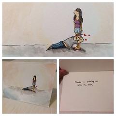 Imadeacardforagirl (Hoodie Dog) Tags: love card putup