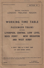 London Midland Region Working Timetable Section E 6th May 1968 to 4th May 1969 (Or Until Further Notice) (Luke O'Rourke) Tags: liverpool map birkenhead southport timetable wirral merseyside merseyrail