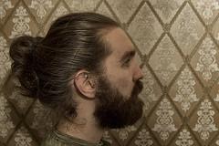 Day 83 (Michael Rozycki) Tags: wallpaper portrait face look self canon project hair beard nose eyes personal side profile moustache 7d 1755