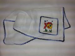 Fralda de Boca - Peixinho F011 (SaluArts) Tags: de pano cruz infantil beb boca ponto paninho fralda fraldinha enxoval
