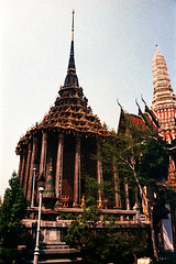 19-322 (ndpa / s. lundeen, archivist) Tags: color building tower film architecture 35mm buildings thailand landscaping bangkok nick columns spire grandpalace thai 1970s pillars 1972 19 1973 grounds finial dewolf finials nickdewolf photographbynickdewolf reel19