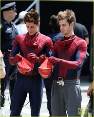 Spider-Man behind the scenes (Guardian Screen Images) Tags: man film comics movie book spider costume amazing comic spiderman books super tights andrew suit peter hero superhero behind tight marvel garfield scenes parker spandex lycra 2012 the