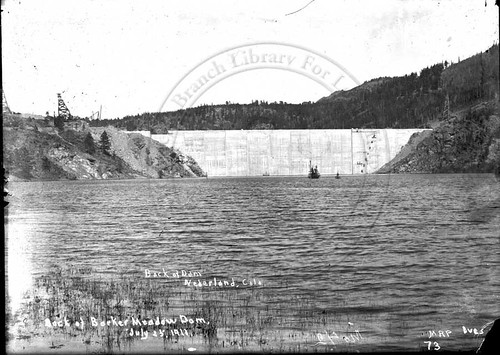 Photo - Barker Dam & Reservoir, 1911