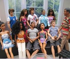 (Mattel) Farrell's Get Together (mydollfamily) Tags: four nikki ryan ken grace steven sis fashionista fashiondoll marvin mattel jls texasamuniversity nichelle divergent jayla aaken generationgirl marvinhumes soinstyle lifeinthedreamhouse