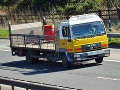 SV04 DVY (Cammies Transport Photography) Tags: man truck lorry m8 flyover livingston gleaner tgl sv04dvy