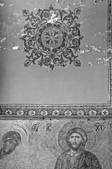 Mosaic (le_messenger) Tags: world leica bw art history monochrome 35mm turkey golden nice ancient open christ f14 dick voigtlander jesus wide istanbul m christian tiles m8 christianity ottoman mm monochrom horn osmanli sophia likes bosphorus crusade sultanahmet m9 constantinople hagia justinian ayasofya