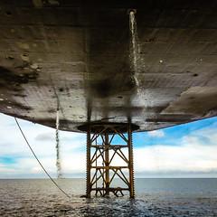 Under A Star Destroyer, or Under An Oil Rig? (GlobalGoebel) Tags: industry indonesia offshore under gas rig oil underneath drilling iphone kalimantan balikpapan jackup parameswara oilandgas kaltim iphoneography iphone4s