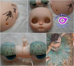 F.A Degas, custom n 30 by edeadolls. (edea44) Tags: carving blythe custom degas fa adoption bailarina edea maquillaje pecas rbl adopcin nickylad edeadolls