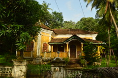 Goa / India (didemtali) Tags: ocean travel india green beach church nature clouds sand asia paradise fort goa palm colonialarchitecture abandonedhouse anjuna tropical vagator arambol
