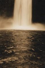 Abiqua Falls 4, 2015 (Sara J. Lynch) Tags: white black lynch film oregon 35mm j waterfall sara asahi pentax k1000 falls mills scotts abiqua