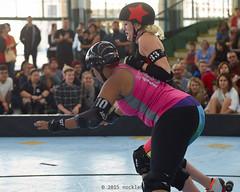 oak_vs_resist_L3500446 1 (nocklebeast) Tags: ca usa rollerderby rollergirls richmond skates bayareaderbygirls badg oaklandoutlaws richmondwreckingbelles va0001991072 effectivedateofregistrationaugust152015 va1991072