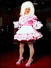 Still another pink maid pic (jensatin4242) Tags: sissy sissymaid crossdresser transvestite jensatin pink taffeta frilly
