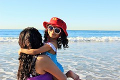 IMG_3965 (2) (mrwalli) Tags: friendlychallenges mother daughter kid sun surf ocean hat red sunglasses blue water challengegamewinner san diego
