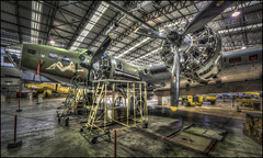 DUXFORD (2017) 1 (Darwinsgift) Tags: sally b b17 bomber hangar duxford imperial aviation war museum aircraft planes memphis belle restoration cambridgeshire hdr photomatix carl zeiss distagon 15mm f28 zf2 t nikon d810 multiple exposure tripod ngc warbird plane usa american ww2 world two heavy vintage repair service