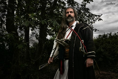 the warrior (dim.pagiantzas | photography) Tags: warrior portrait man men male actors movies cinema cine historical history period people atmospheric dark weapons traditional greece greek landscape trees sky nature clouds cloudy