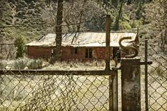 S BRAND (akahawkeyefan) Tags: fence s home weeds grass chainlink davemeyer highway33 lospadresnationalforest