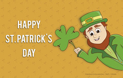 St. Patrick's day for tablet wallpaper (Veronica Newville Mendietta) Tags: patricksday stpatricksday saintpatricksday green shamrock leprechaum lef goblin ireland irlanda fad unam enap wallpaper