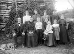 Three generations, ca. 1915-1925 (Fylkesarkivet i Sogn og Fjordane) Tags: norway noreg norge sognogfjordane sunnfjord førde olaifauske family høgehue children child woman man dog