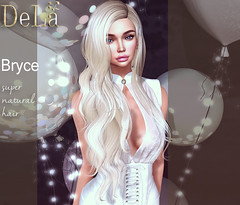 """=DeLa*= new hair """"Bryce"""" (=DeLa*=) Tags: dela hair fitted rigged mesh materials secondlife secondlifefashion sl slhair style tres chic new"""
