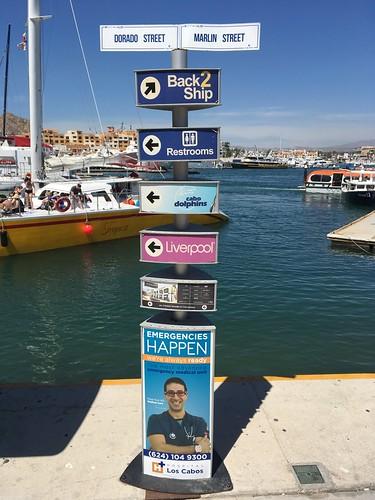 """Back 2 Ship"" wayfinding signs"