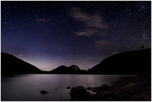 2017 IMAGE of the YEAR-Jordan Pond Starry Night - By Steve Ornberg