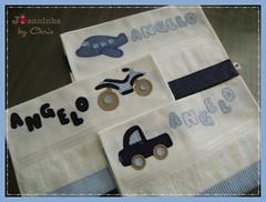 toalhinhas Angelo (Joanninha by Chris) Tags: handmade artesanato aplicaçãotecidos bordado baby bebê enxovalbebe enxoval patchwork patch feitoamão toalhas toalhinhas enxovalmenino