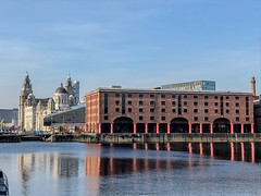 IMG_0320.jpg (sarah4333) Tags: liverpool march sunny docks city centre mersey side reflections reflection modern building albert quay museum historical warehouse red brick water basin liver dock merseyside buildings