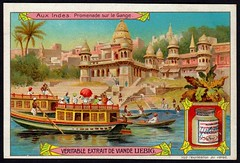 Liebig Tradecard S853 - On the Ganges (cigcardpix) Tags: tradecards advertising ephemera vintage chromo liebig india