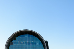 Eataly (Sober Rabbit) Tags: building clearsky blue geometry circle eataly glass minimal negativespace sky linescurves