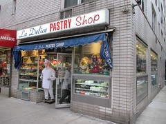 La Delice Pastry Shop - Easter Candy - Chef Mannequin 3205 (Brechtbug) Tags: la delice pastry shop candy store chocolate specific 3rd avenue 27th street kips bay new york city 03302017 nyc mystery magic chef outside mannequin superchef comicbook super hero comic book comics standee halloween stand up stores popup bake bakery easter entrance pop n fresh mannequins dummy wax sculpture standees butler domestic hat uniform 2017 mysterious