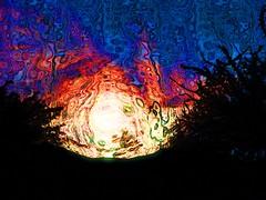 Untitled (lindyginn) Tags: photo art ipad painting finger iridescent dark light night sky trees desert colors vibrant purple flowers nature landscape impressionistic ethereal surreal watercolor dream