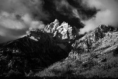 Grand Teton Emerges (Epic Light) Tags: travel autumn fall nature landscape outside outdoor wyoming tetons wy