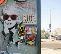 shady brea (Question Josh? - SB/DSK) Tags: streetart losangeles sticker stickerart label stickers josh hollywood collab question collaboration 228 labrea fatlip cisa flava questionjosh label228