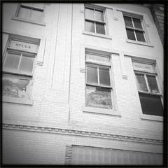 Spurs, Bridles, Navajos (pam's pics-) Tags: cameraphone windows bw nebraska ne smalltown buidling newberrys pammorris alliancenebraska pamspics hipsta appleiphone mobilephonephotography hipstamatic iphone4s may2013roadtrip spursbridlesnavajos