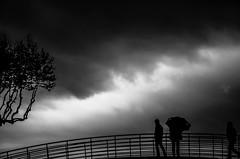 L'Orage (PaxaMik) Tags: sky storm clouds noiretblanc silhouettes ciel collioure nuages orage pyrénées parapluie orientales n§b cielnuageux