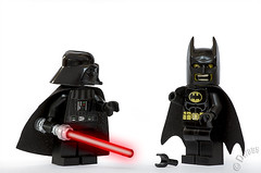 Day 162  Darth Daddy (Foolish Lego) Tags: fun starwars batman darthvader brucewayne legofoolish