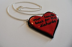 Our Hearts Beat For The Diehards (JosieMM1013) Tags: music inspiration cute handwriting silver typography necklace lyrics forsale heart handmade jewellery polymerclay falloutboy etsy seller quirky pendant heartshaped thriller polymer etsyshop infinityonhigh cuteandquirkygirl