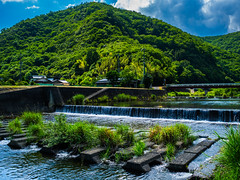 PhoTones Works #2941 (PhoTones_TAKUMA) Tags: mountain mountains nature japan river landscapes countryside scenic rivers  riverbank   idyllic  omd     em5     photones