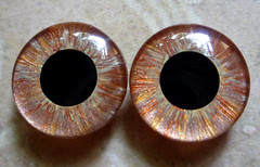 """Little Gemstones - Brown Gold and Copper"" - Custom handpainted Blythe Eyechips"