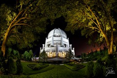 Baha'i House of Worship (Frank Kehren) Tags: park night canon temple illinois unitedstates fisheye f8 wilmette 815 lindenavenue canoneos5dmarkii ef815mmf4lusm canonef815mmf4lusm bahaihouseofworship
