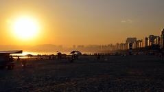Ponta da Praia [ EXPLORED - Jul 19, 2013 #153 ] (De Santis) Tags: sunset pordosol brazil praia beach brasil sãopaulo sony sp santos f3 alpha nex pontadapraia explored fernandodesantis